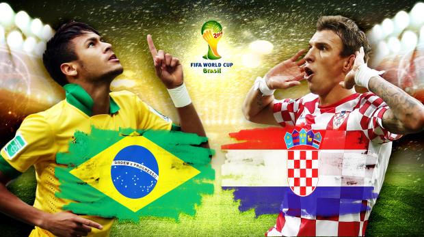 Die Fußball Weltmeisterschaft 2014 beginnt mit der Konfrontation von Brasilien und Kroatien